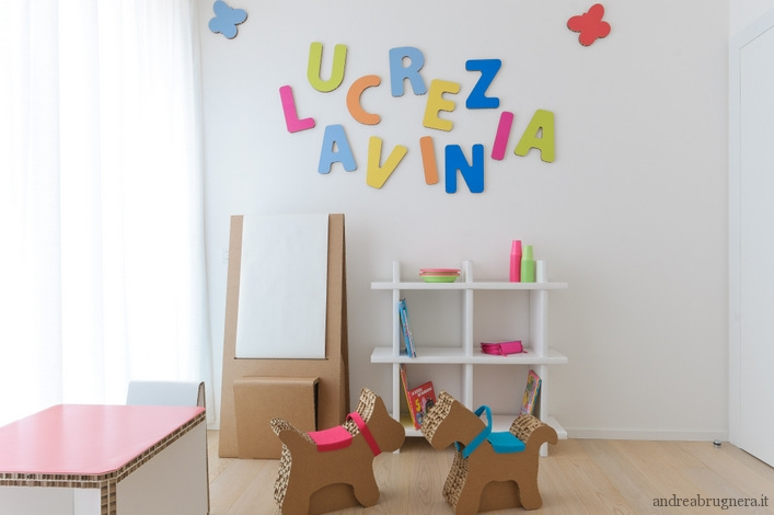 Kids play room andrea brugnera design for Arredi in cartone
