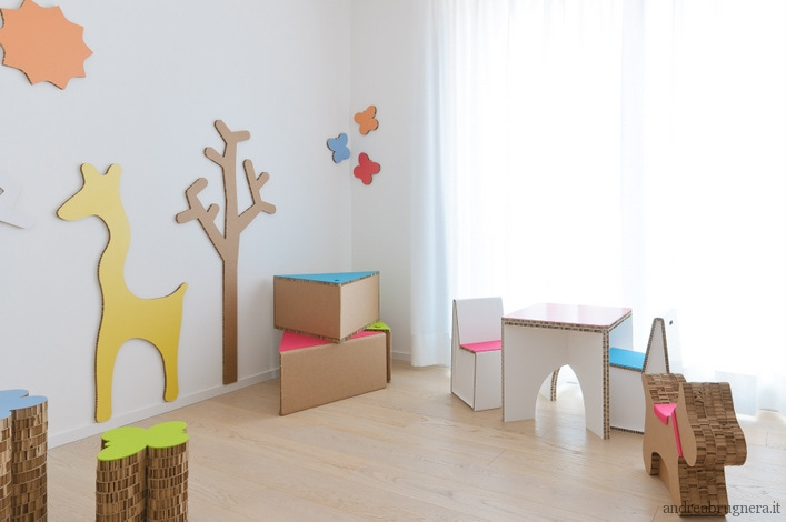 Mommo design cardboard for kids cartone per i piccoli for Designer di mobili per la stanza